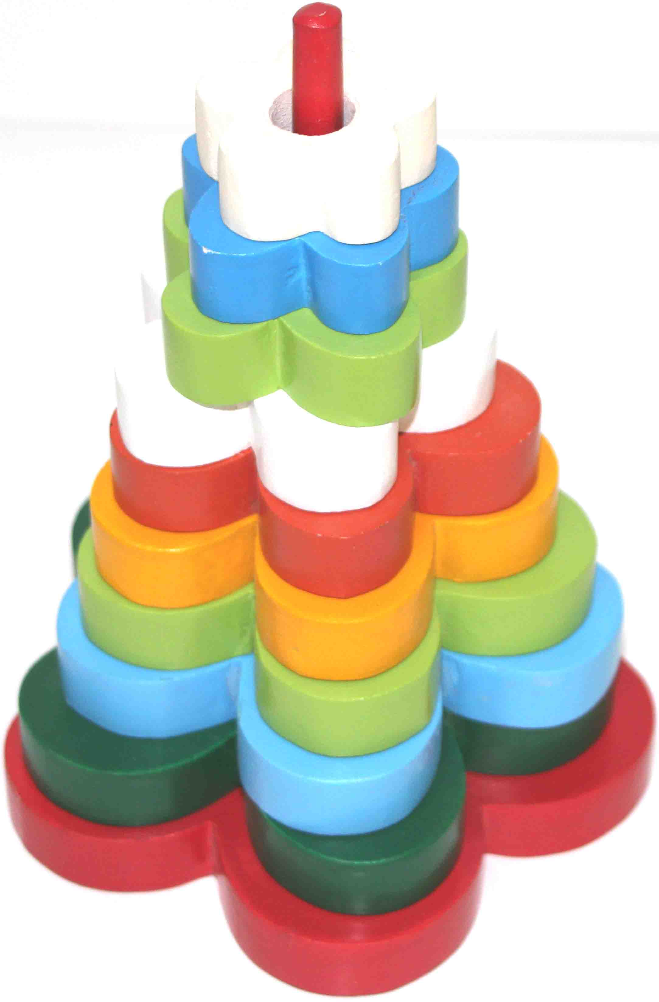 Wooden Stacking Tower Flower