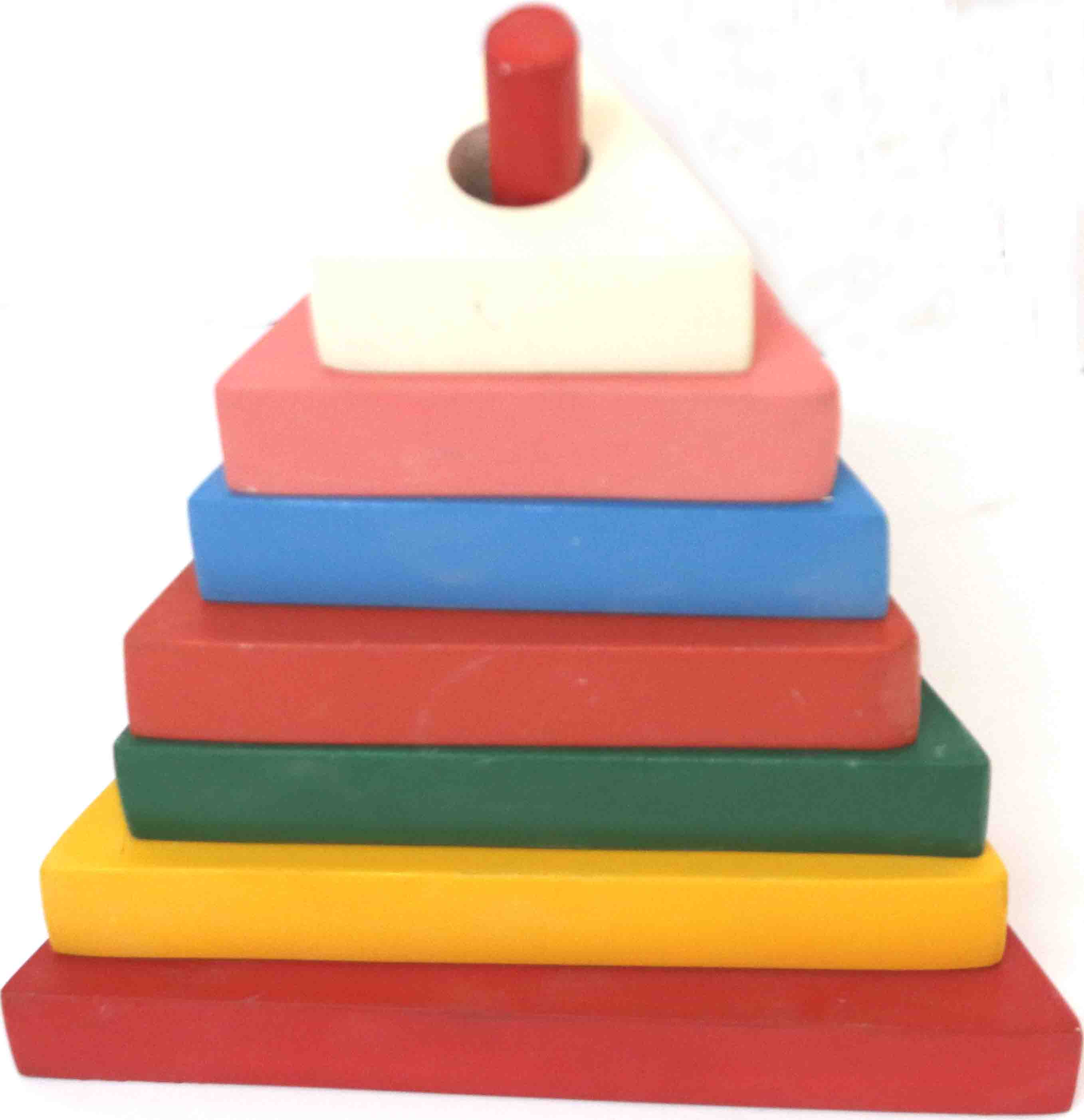 Wooden Stacking Triangle Tower