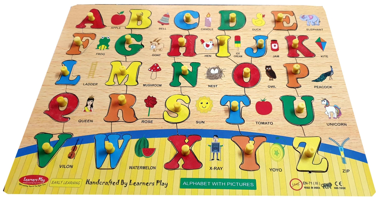 Wooden English Alphabet With Pictures
