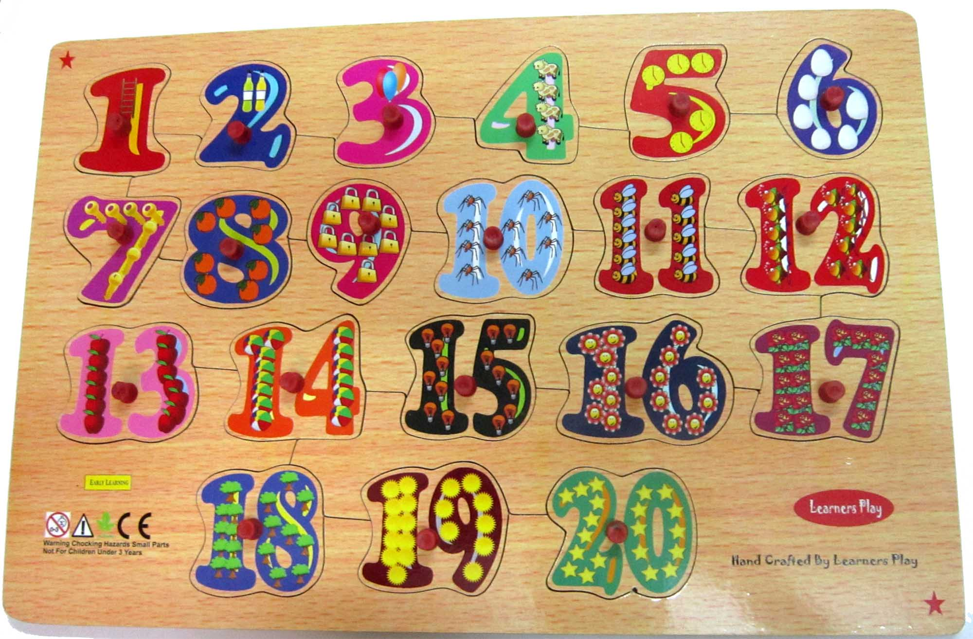 Wooden Counting Board 1-20 Big