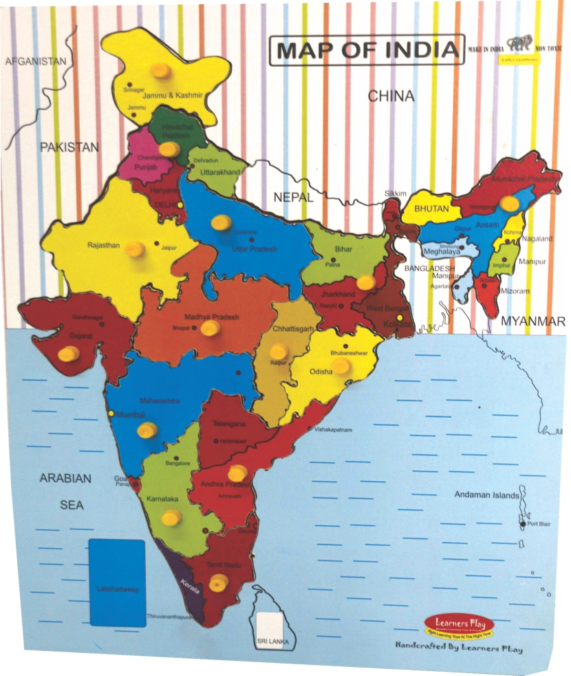 India Map Wooden Puzzle Big