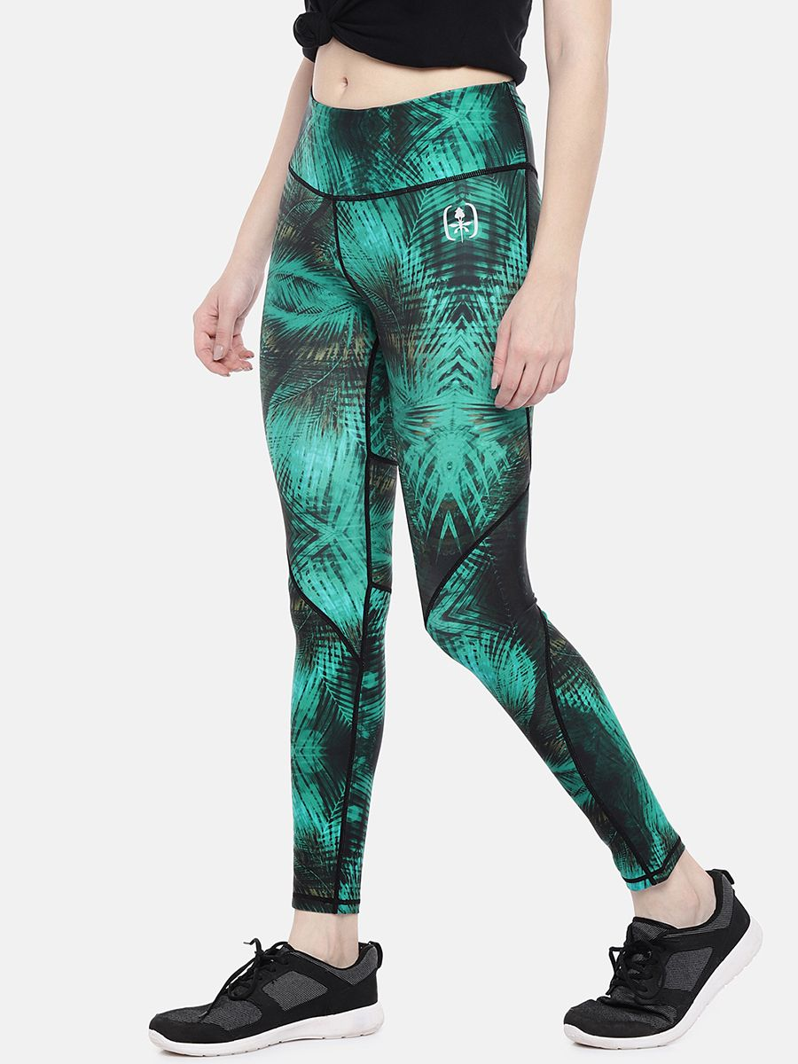 Swee Athletica Activewear Bottoms for Women - Turquoise Green