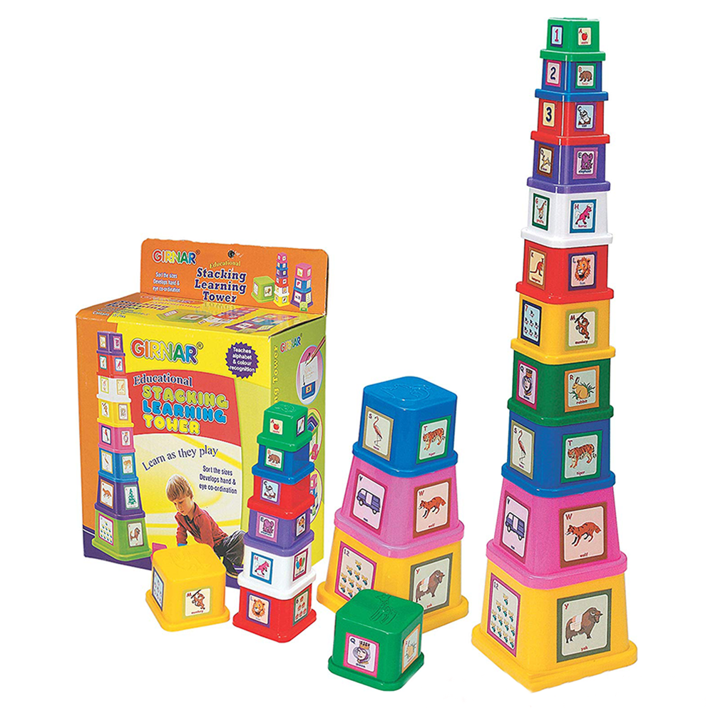 Learning Tower Stack (Alphabets & Numbers Blocks)