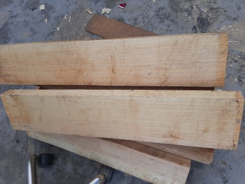 Short Handle Natural Grade 1 English Willow Clefts, For Advance Player